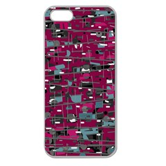Magenta decorative design Apple Seamless iPhone 5 Case (Clear)