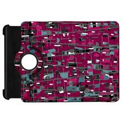 Magenta decorative design Kindle Fire HD Flip 360 Case
