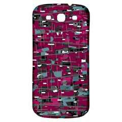 Magenta decorative design Samsung Galaxy S3 S III Classic Hardshell Back Case