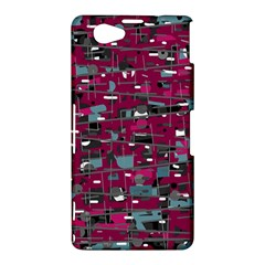 Magenta decorative design Sony Xperia Z1 Compact