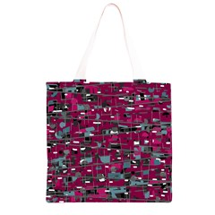 Magenta decorative design Grocery Light Tote Bag