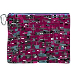 Magenta decorative design Canvas Cosmetic Bag (XXXL)