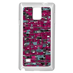 Magenta decorative design Samsung Galaxy Note 4 Case (White)