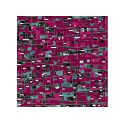 Magenta decorative design Small Satin Scarf (Square)