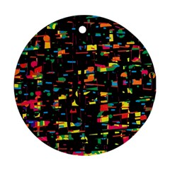 Playful colorful design Ornament (Round)