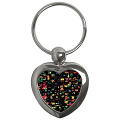 Playful colorful design Key Chains (Heart)