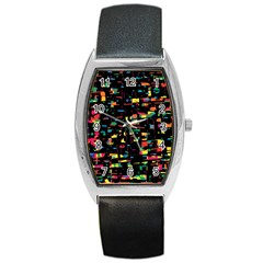 Playful colorful design Barrel Style Metal Watch
