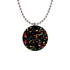 Playful colorful design Button Necklaces
