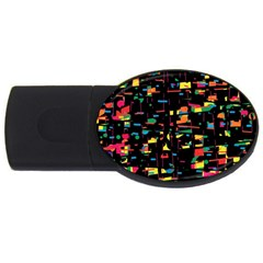 Playful colorful design USB Flash Drive Oval (4 GB)