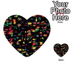 Playful colorful design Multi-purpose Cards (Heart)