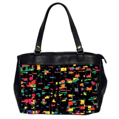 Playful colorful design Office Handbags (2 Sides)