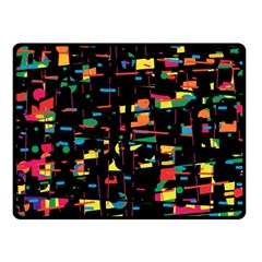 Playful colorful design Fleece Blanket (Small)