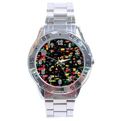 Playful colorful design Stainless Steel Analogue Watch