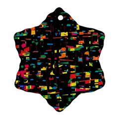 Playful colorful design Snowflake Ornament (2-Side)