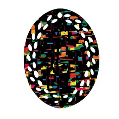 Playful colorful design Ornament (Oval Filigree)