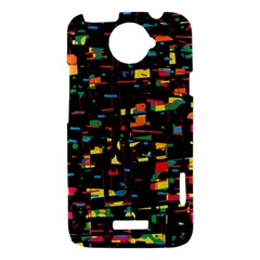 Playful colorful design HTC One X Hardshell Case
