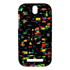 Playful colorful design HTC One SV Hardshell Case