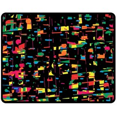 Playful colorful design Double Sided Fleece Blanket (Medium)