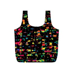 Playful colorful design Full Print Recycle Bags (S)