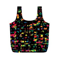 Playful colorful design Full Print Recycle Bags (M)