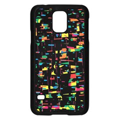 Playful colorful design Samsung Galaxy S5 Case (Black)