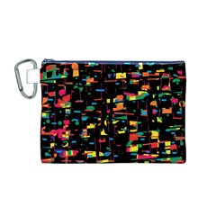 Playful colorful design Canvas Cosmetic Bag (M)