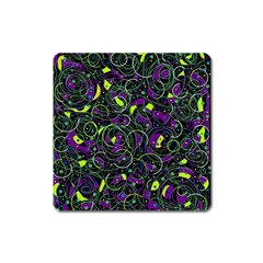 Purple and yellow decor Square Magnet