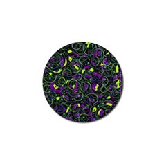 Purple and yellow decor Golf Ball Marker (4 pack)