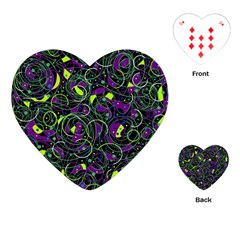 Purple and yellow decor Playing Cards (Heart)