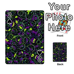 Purple and yellow decor Playing Cards 54 Designs