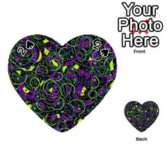 Purple and yellow decor Playing Cards 54 (Heart)