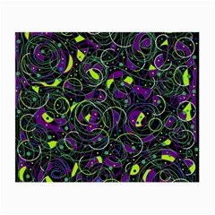 Purple and yellow decor Small Glasses Cloth (2-Side)