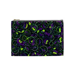 Purple and yellow decor Cosmetic Bag (Medium)