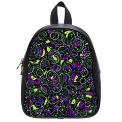 Purple and yellow decor School Bags (Small)