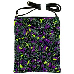 Purple and yellow decor Shoulder Sling Bags