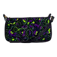 Purple and yellow decor Shoulder Clutch Bags