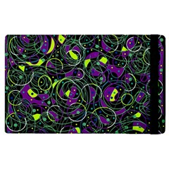 Purple and yellow decor Apple iPad 3/4 Flip Case