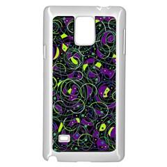 Purple and yellow decor Samsung Galaxy Note 4 Case (White)