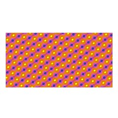 Vibrant Retro Diamond Pattern Satin Shawl