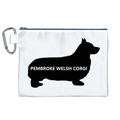 Pembroke Welsh Corgi Silo Name Canvas Cosmetic Bag (XL)