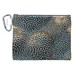 Coral Pattern Canvas Cosmetic Bag (XXL)