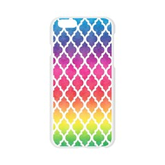 Colorful Rainbow Moroccan Pattern Apple Seamless iPhone 6/6S Case (Transparent)