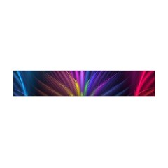 Colored Rays Symmetry Feather Art Flano Scarf (Mini)