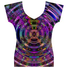 Color In The Round Women s V-Neck Cap Sleeve Top