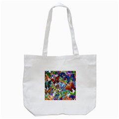 Color Butterfly Texture Tote Bag (White)
