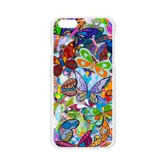 Color Butterfly Texture Apple Seamless iPhone 6/6S Case (Transparent)