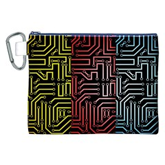 Circuit Board Seamless Patterns Set Canvas Cosmetic Bag (XXL)