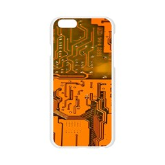 Circuit Board Pattern Apple Seamless iPhone 6/6S Case (Transparent)