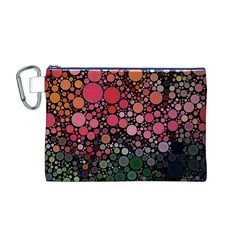 Circle Abstract Canvas Cosmetic Bag (M)