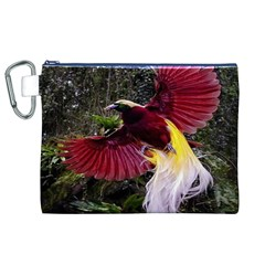 Cendrawasih Beautiful Bird Of Paradise Canvas Cosmetic Bag (XL)